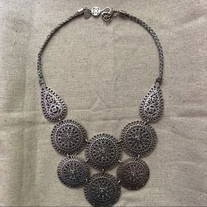 Stella & Dot Jewelry - STELLA & DOT Silver Medallion Bib Necklace